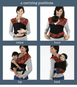 Infantino Baby Carrier Wrap Sync Comfort 8-36lbs Floral Sling