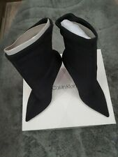 Calvin Klein Mirta Heavy Lycra Ankle Boots Uk5 Rrp £135