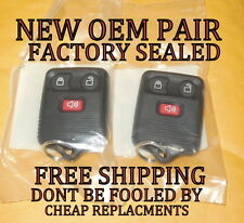 NEW SEALED PAIR OEM FORD F-150 F-250 F-350 KEYLESS REMOTE ENTRY FOB CWTWB1U345