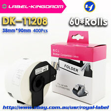 60 Rolls Brother Compatible DK-11208 Labels 38mm*90mm All Include Plastic Holder