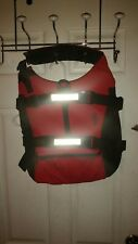 NRS DOG CANINE PERSONAL FLOTATION DEVICE PFD LARGE L REFLECTIVE LIFE JACKET RED