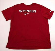 Nike Witness LeBron James DRI-FIT Red T-Shirt Size 3XL Short Sleeve Cotton