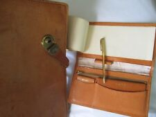 Leather briefcase and wallet/purse   nicely distressed   vintage