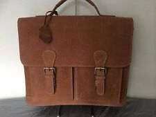 Mens Womens Leather Bag Genuine Real Leather Office Bag Shoulder Bag