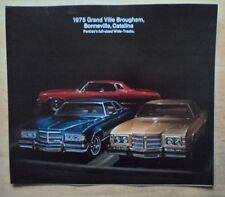 Pontiac GRAND VILLE Bonneville Catalina 1975 USA titoli di grande formato SALES BROCHURE