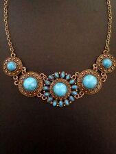 Turquoise Round Choker Costume Necklaces & Pendants