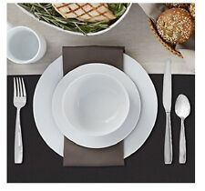 White Dinner Dishes Plates 32 Piece Porcelain Dinnerware Kitchen Set Brand New