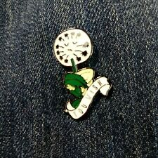 metal alloy enamel Us Seller You wish dandelion Pin badge brooch