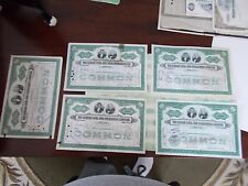 THE LEHIGH AND NAVIGATION COMPANY STOCK CERTIFICATES 5 100 SHARE FROM 30'S & 40S