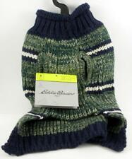 New listing Eddie Bauer Marled Striped Dark Thyme Indigo Dog Sweater Size Small Tagged