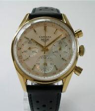 Cogne Heuer Carrera réf. 2448 Messieurs Chronographe Montre-bracelet cal. 72 Vintage Watch