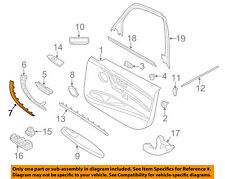 BMW OEM 12-16 328i Interior-Rear Door-Handle Molding Right 51417260080