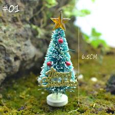 2pcs Xmas Miniature Cedar Dollhouse Decor Mini Tree Landscape Desktop Ornaments #01