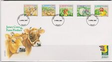 GB - JERSEY 2001 Jersey Cows & Farm Agriculture/UK Minimum Postage SG 985/9 FDC