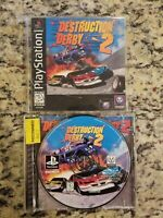 Destruction Derby 2 BLACK LABEL Playstation PS1 Video Game Complete FREE SHIP