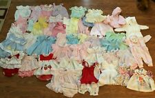 Lots Of 55 Vintage Baby Girls Dresses, Rompers, Bib Overalls Size 0-3 To 18 Mo.