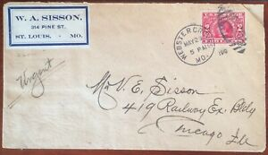 Scott 371 Private Perforated on cover, W.A. Sisson stamp dealer, 1998 PSE Cert
