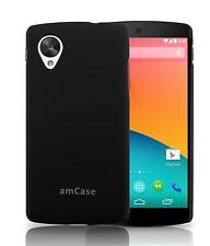 LG Google Nexus 5 amCase Matte Slim Fit Phone Case/Cover (Black)
