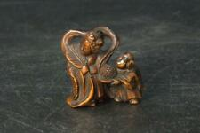 Japanese Antique Netsuke Benten Karako Wooden Meiji period NW127