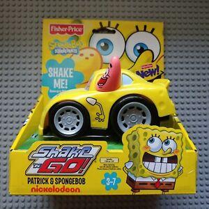 New Fisher-Price Shake N Go SpongeBob & Patrick Race Car