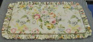 Padded King Sham (1) made w Ralph Lauren Home Lake Floral Fabric w Ruffle & Cord