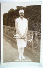 """Kornelia """"Kea"""" Bouman Trim Wimbledon, années 1920 carte postale"""