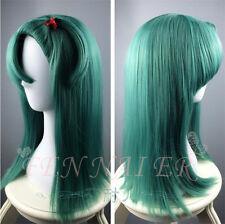 Hot full Straight Dragon Ball Z Bulma Modeling dark green cosplay women's wigs