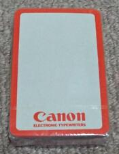 Canon Electronic Typewriters - Vintage Sealed Pack of Advertising Playing Cards