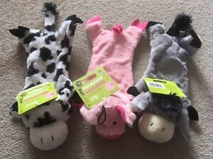 Crinkle Squeaky Dog Toy - Farmyard Buddies (Pig / Cow / Donkey)