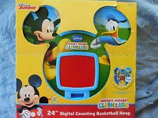 "Disney Junior Mickey Mouse Clubhouse 24"" Digital Counting Basketball Hoop Sounds"