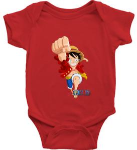 Infant Baby Rib Bodysuit Jumpsuit Newborn Print One Piece Luffy Straw Hat Pirate