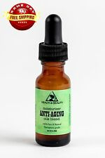 ANTI-AGING OILS BLEND ANTI-WRINKLES ORGANIC by H&B Oils Center 0.5 OZ GLASS DROP