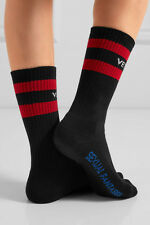 VETEMENTS Vetement Socks - UNISEX Black White Red Striped Designer - UK SELLER