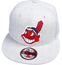 NEW Era Cleveland Indians Heather Grey MLB Snapback Cap 9 FIFTY Limited Edition