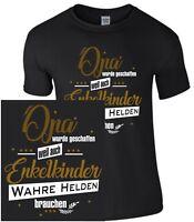 Opa wurde geschaffen Spruch T-Shirt Geschenk Funshirt Enkel Familie lustig Shirt