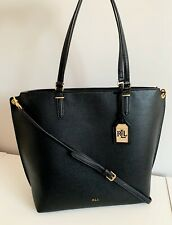 Ralph Lauren Abby Medium Tote black gold hardware Bag RP£170 .