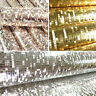 100X53cm 3D Glitter Mosaic Foil Wallpaper Mirror Effect Mini Sparkle Decal Decor