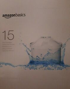 15 x AmazonBasics Wasserfilter kartuschen 15er Pack Für BRITA Maxtra Jugs