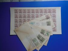 50x BOY SCOUTS Philippines Full SHEET + FDC Collection 1949 Silver Jubilee