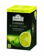 New !  20 Foil Tea bags Ahmad Tea  Lemon & Lime Twist Black Tea