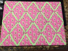 Vera Bradley At Home Collctn Ribbon Board Padded Bulletin Message Pink Paisley