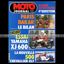 MOTO JOURNAL N°638 YAMAHA XJ 600 CAGIVA WMX 125 HUSQVARNA WR 400 PARIS DAKAR '84