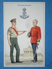 POSTCARD THE GREEN HOWARDS - PROVOST SERGEANT BARRACK DRESS & CAPTAIN FULL DRESS