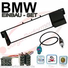 Radioblende 1 DIN BMW 3 E46 und Antenneadapter DIN - Fakra + Adapter Radio Kabel