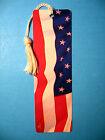'American Flag' Print on a Tassel Bookmark (white tassel) Sku# 329