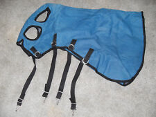 New Blue Felt Lined Small Pony/Colt Winter Hood With 4 Snaps On Under Side