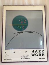 """Vintage Jazz Poster Signed/Numbered """"Don Hanson"""" 40/55 to WGBH."""