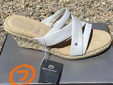 Rockport Emily Zapatos Mujer 41 Sandalias de Cuña Alpargatas Strappy UK7 Nuevo