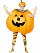 Inflatable Pumpkin Costume Fancy Dress Party Mens Adult Complete Outfit One Size Fits All