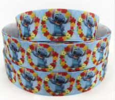"BTY 1"" Cute Disney Stitch Grosgrain Ribbon Hair Bows Scrapbooking Lanyards Lisa"